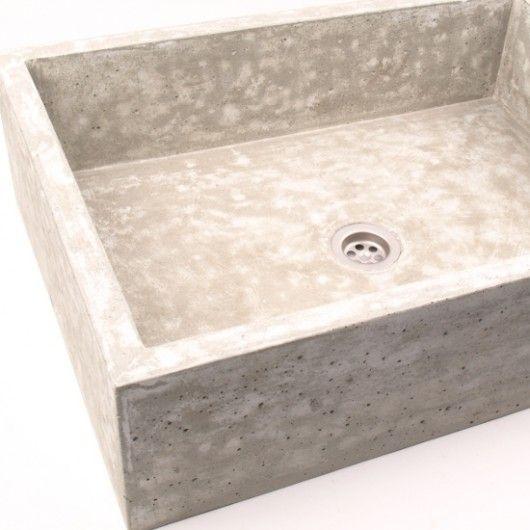 dodatki - łazienka-umywalka z betonu duża UB3