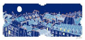 Arts Graphiques   Julie Zeitline   Les toits de Paris I   Tirage d'art en série limitée sur L'oeil ouvert