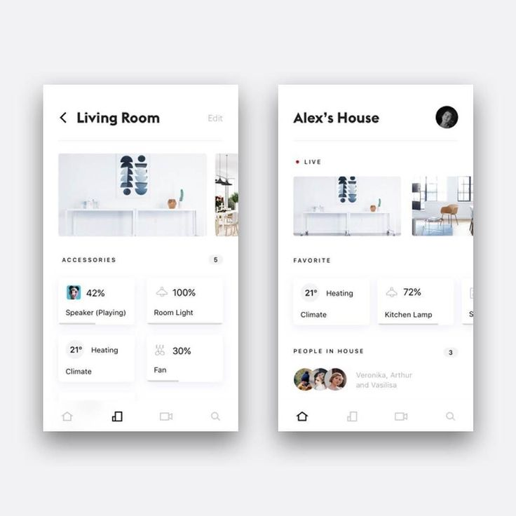 Smart Home App by Alex Arnis #dailydesign #dailyui #appdesign #appdesigner #application #mobileapp #webdesigner #ui #ux #uiux #uidesign #uxdesign #uxdesigner #userinterface #userexperience #interface #interfacedesign #digitaldesign #graphicdesignui #wireframe #indesign #typographydesign #creativedesign #interaction #behance #dribbble #вебдизайн