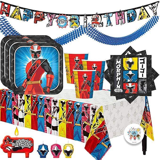 POWER RANGERS NINJA STEEL Birthday Party Supplies PLASTIC TABLECOVER