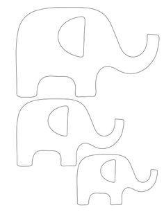 Molde de elefante. Dá pra ser em Patchwork! http://www.pinterest.com/TomsCraftyWife/printable-images/