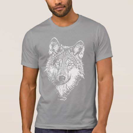 Wolf Monochrome T-shirt - tap, personalize, buy right now!