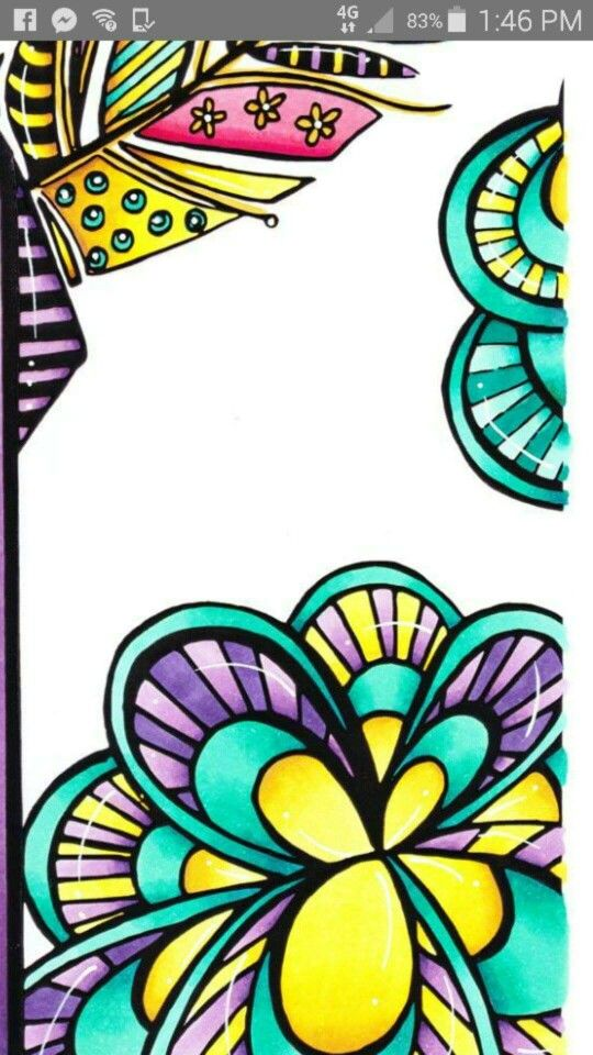 Sample colouring from front page of Artivity Whimsical Colouring