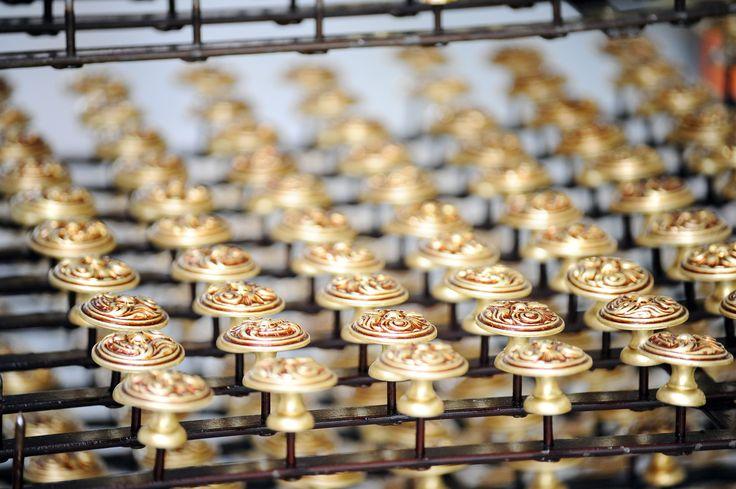 #knob #brass Assembling processing phase. #EnricoCassina #door and #window #handles The italian sartorial company in Cucciago, Como.