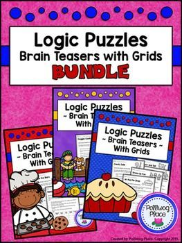 Logic Puzzles - Brain Teaser Puzzles with Grids {BUNDLE} ($)