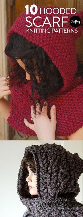 Encontre o padrão de tricô de cachecol com capuz perfeito