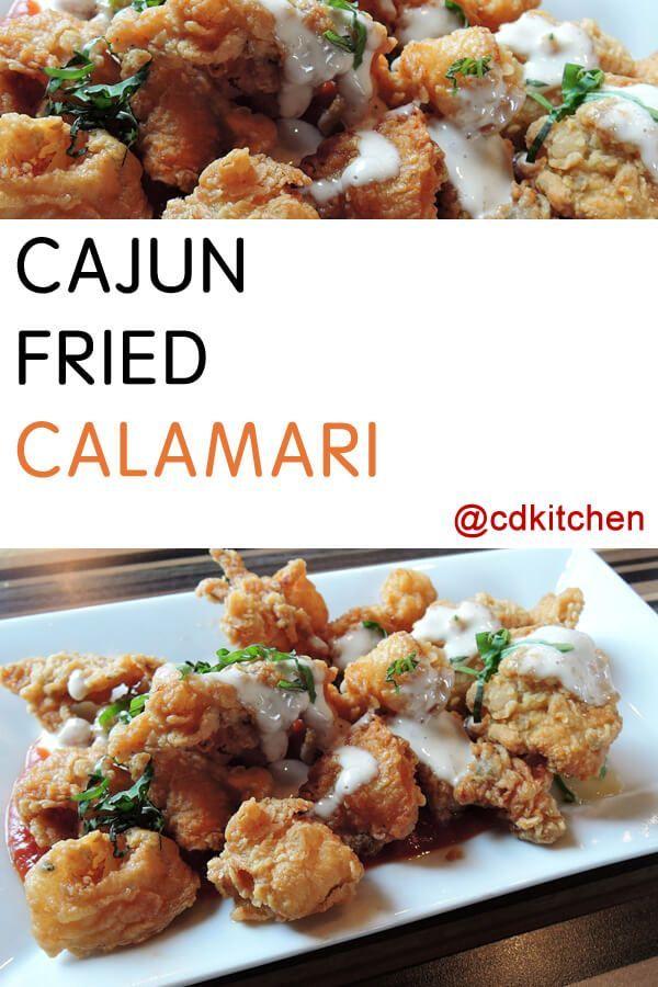Cajun Fried Calamari - Crispy-fried calamari with a spicy kick|  CDKitchen.com