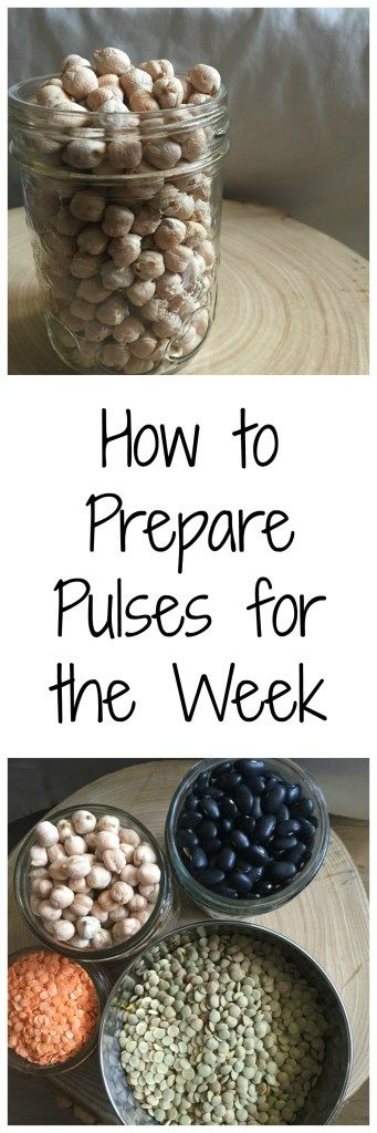 How to Prepare Pulses for the Week | The easiest way to prepare beans and chickpeas to use in your favorite vegetarian and vegan recipes all week long! | Mango About Town
