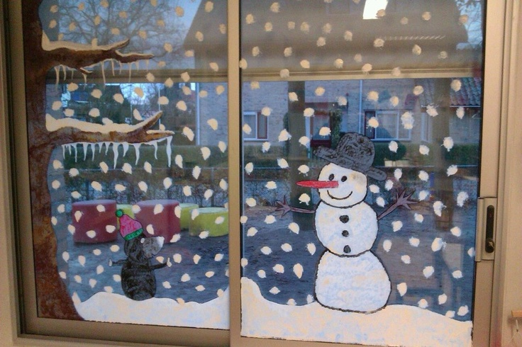 Window paint; Winter