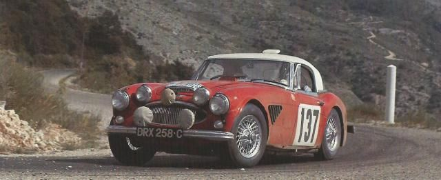 The Morley Brothers (Austin Healey 3000) In the 1965 Alpine Rally
