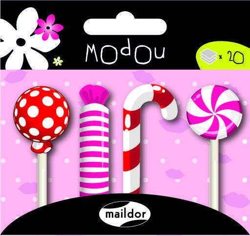 Haftnotizen  Sticky Notes Modou Süßigkeiten von Perlenblitz auf DaWanda.com