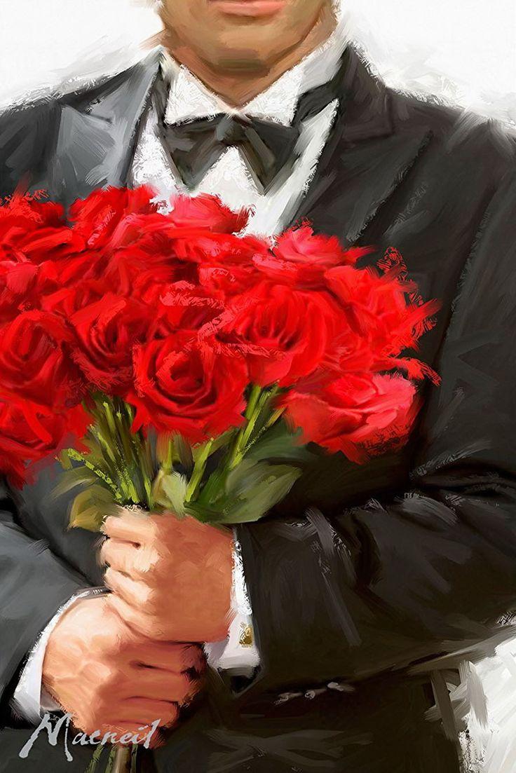 Картинки с розой мужчина
