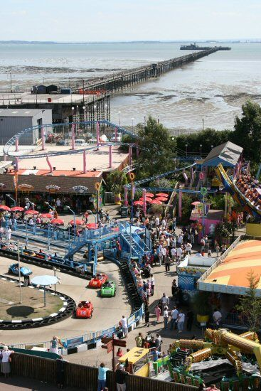 Adventure Island and Southend Pier, from Observation Tower, Southend-on-Sea