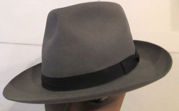 1950S Stetson Fedora Hat.  Royal Stetson by MISSVINTAGE5000