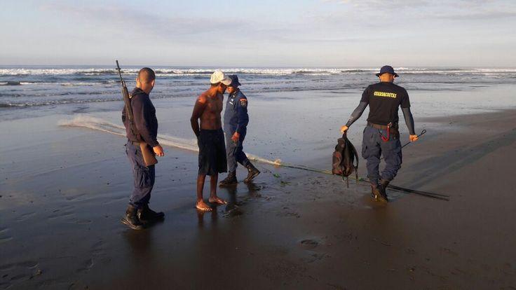 Guardacostas evitan pesca ilegal en Manuel Antonio