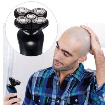 TurnRaise Electric Shaver Review. Includes 5 flexible heads that works great for bald men!