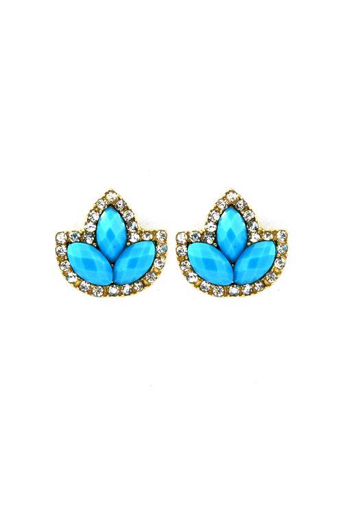 Marquise Custer Earrings in Tempting Blue