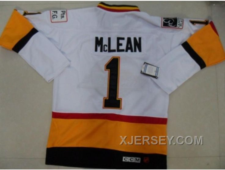 http://www.xjersey.com/nhl-vancouver-canucks-1-mclean-whiteorangekccm-for-sale.html NHL VANCOUVER CANUCKS #1 MCLEAN WHITEORANGEK[CCM] FOR SALE Only $50.00 , Free Shipping!