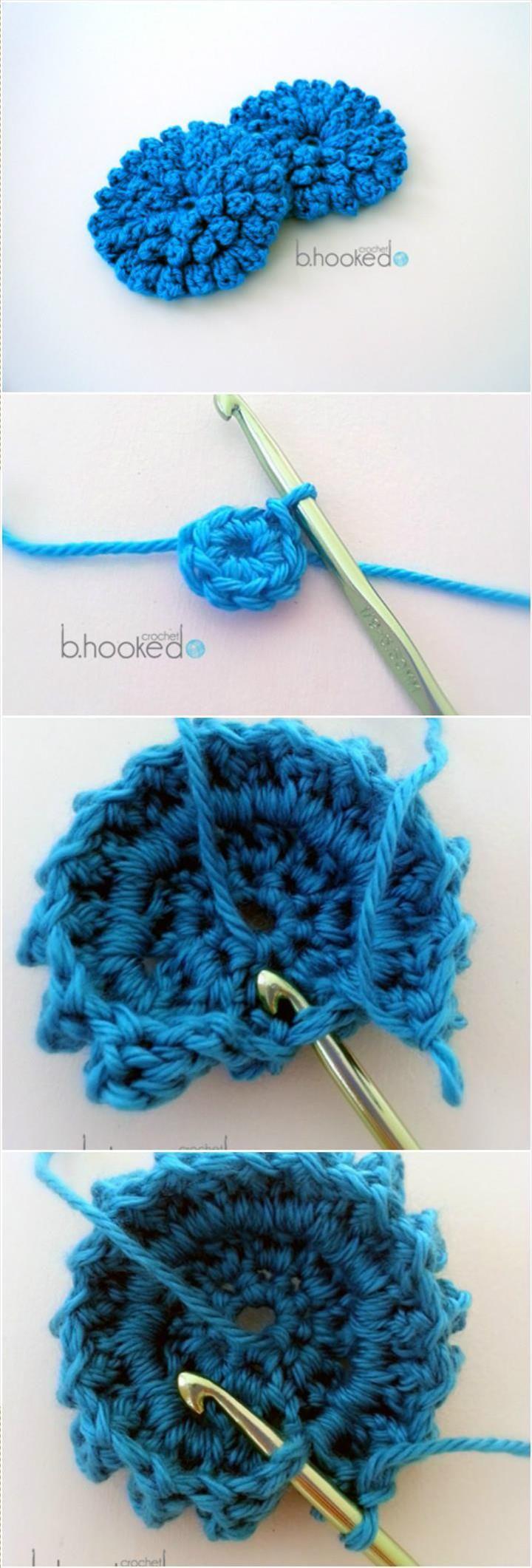 Blue Crochet Popcorn Stitch Flower - 31 Free Crochet Patterns That You will in Love with   101 Crochet