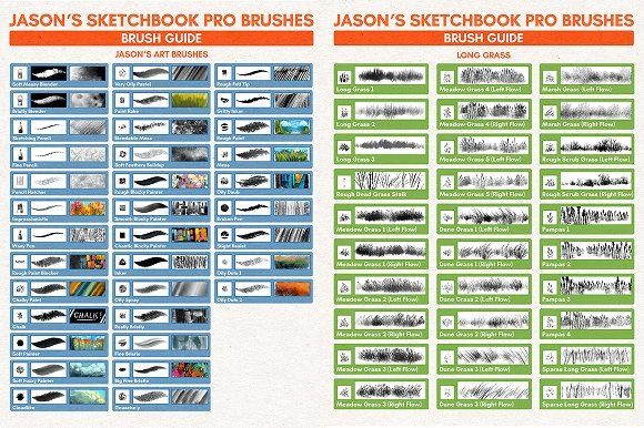 Jason S Sketchbook Pro Brushes Set 1 Sketch Book Sketchbook Pro