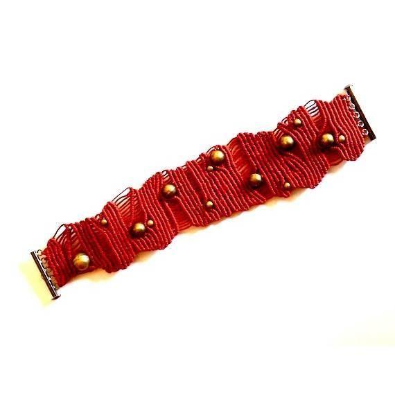 Red bracelet nr. 243   Ifat Nesher