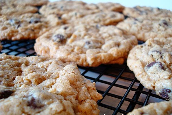 Mel's Kitchen Cafe | Whole Wheat Oatmeal Chocolate Chip Cookies