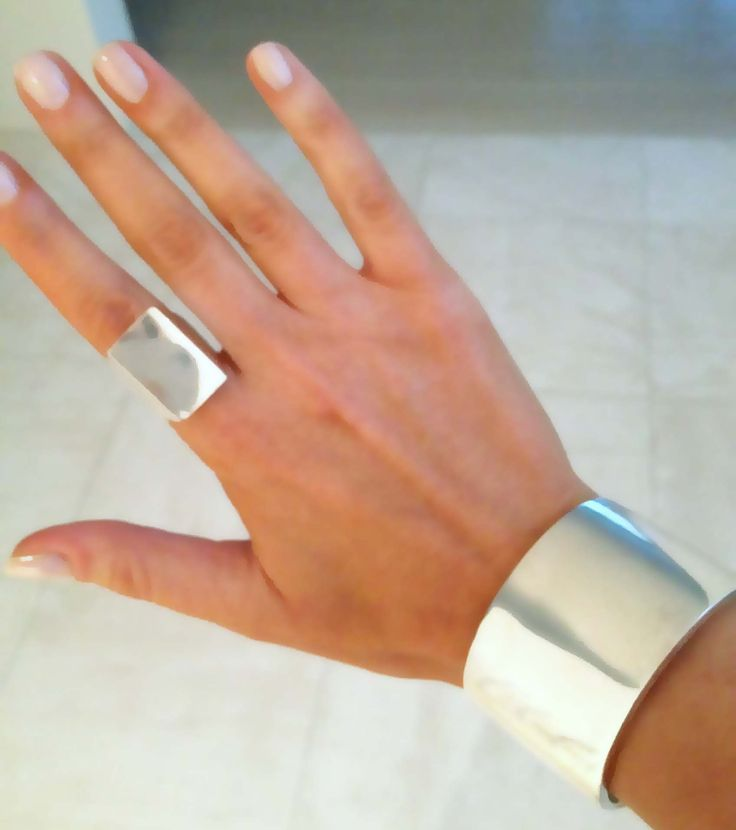 Tom Binns silver cuff and ring
