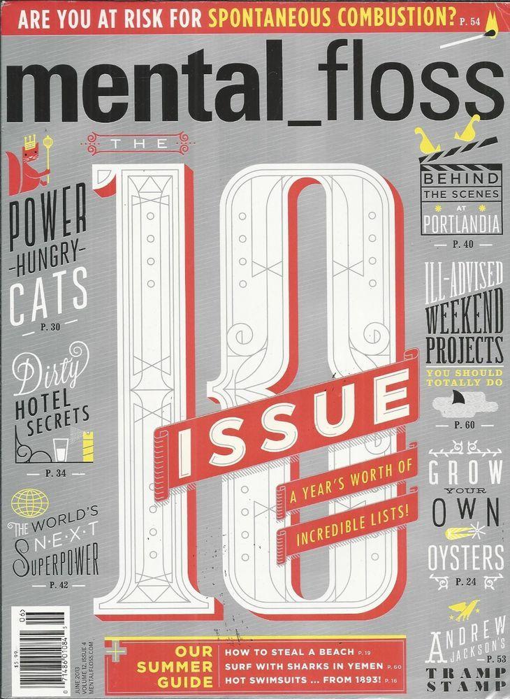 Mental Floss magazine The 10 issue Hotel secrets Cats Africa Portlandia Swimsuit