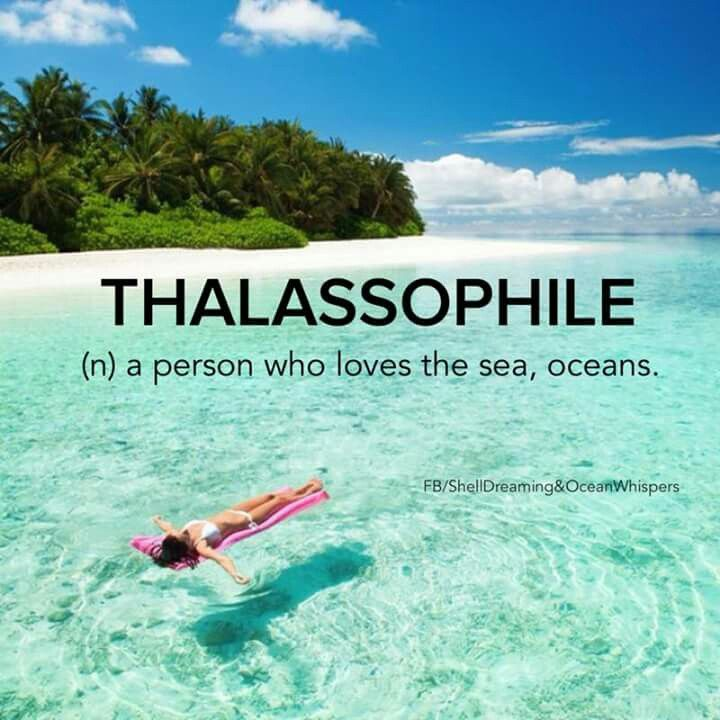Thalassophile. :) <3 The origin of the word is from the Greek.