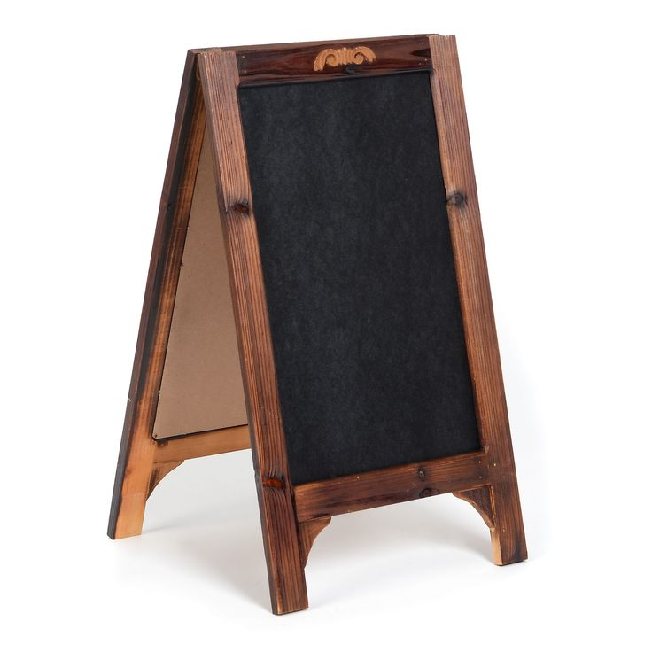 Chalkboard Easel | Chalkboard easel, Wooden easel, Home ... on Easel Decorating Ideas  id=25200