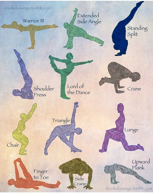 Kids love challenging postures... try some of these out with them!
