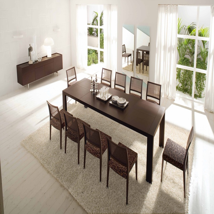 Calligaris Modern Extra Long Extendable Dining Table (XLR
