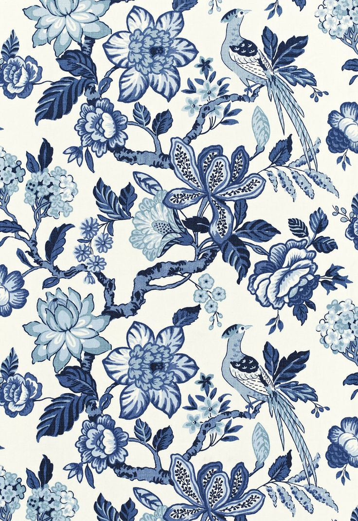 Discount outdoor fabric by the yard - Huntington Gardens Blue Marine Schumacher Fabrics Entire Collection Of Drapery And Upholstery Fabric Offered Online By The Yard At Unbeatable Discount