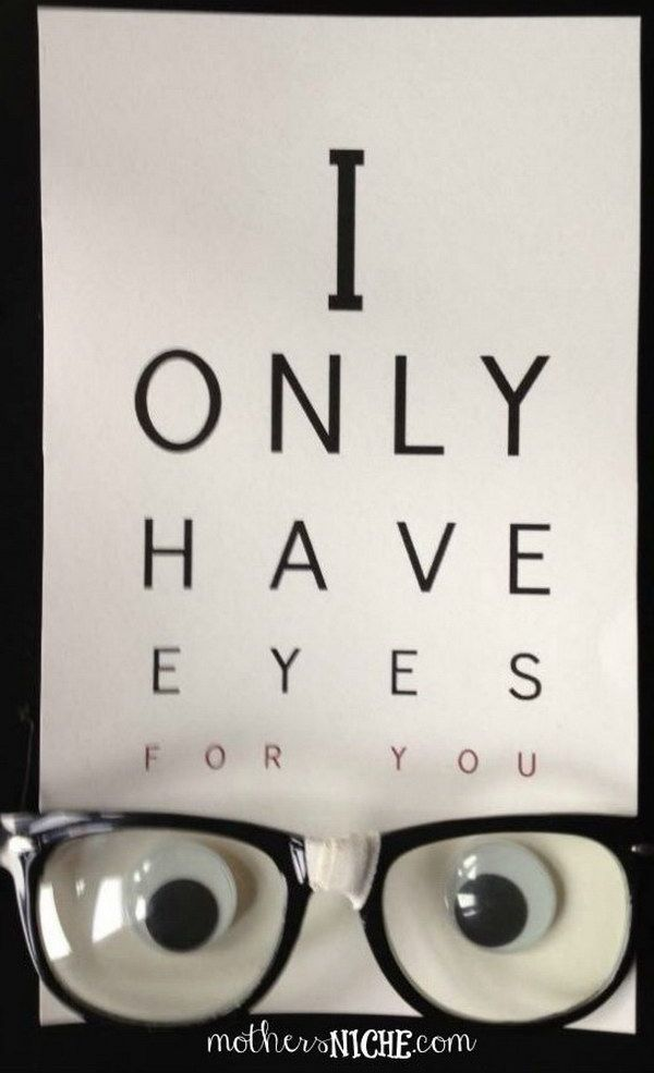 I Only Have Eyes for You Homemade Printable