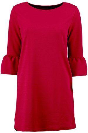Dames Strakke jurken - Boohoo Casey Ruffle Sleeve Shift Dress