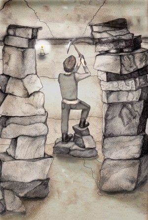 illustration for Writing on Stone - Purbeck quarry industry learning pack