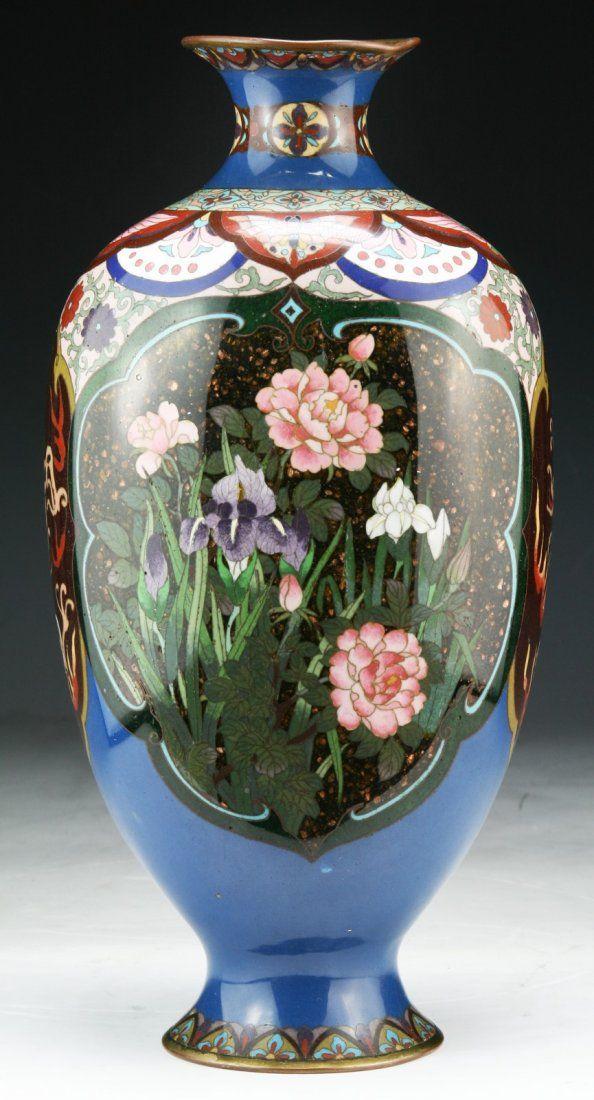 A Japanese Antique Cloisonne Vase: of 19th Century