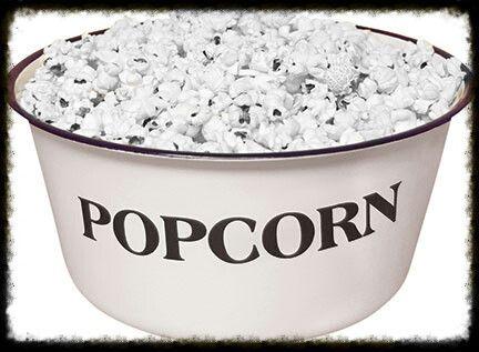 Enamelware POPCORN Bowl