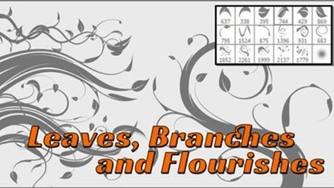 Best Photoshop Brush – Flourish, Leaves and Vines Brushes http://masbadar.com/28-brush-photoshop-terbaik/