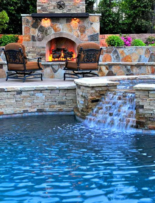 The question is, would I spend more time in the pool or by the fireplace?
