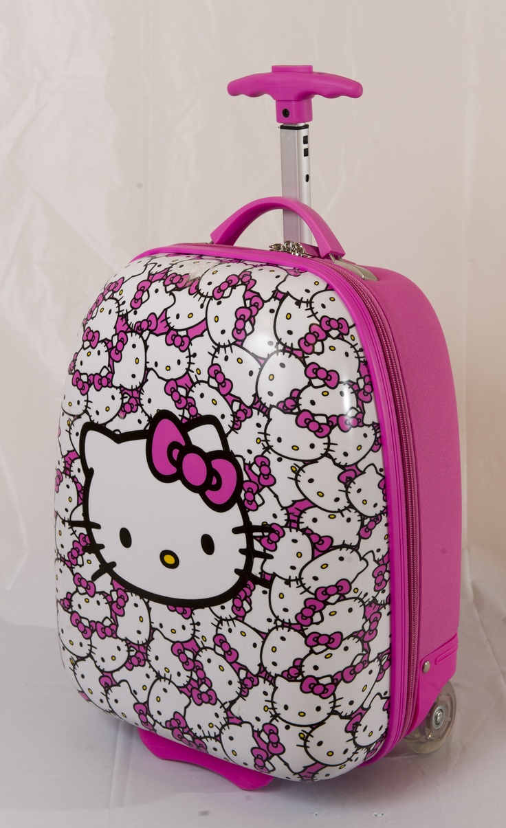 EURO CHIC: Pink Hello Kitty rolling luggage case/backpack, $29.99 at ToysRUs.com. Enter to win a $ 500 shopping spree with @TheProvince and Brentwood Town Centre: http://theprov.in/pinandwin #backtoschool