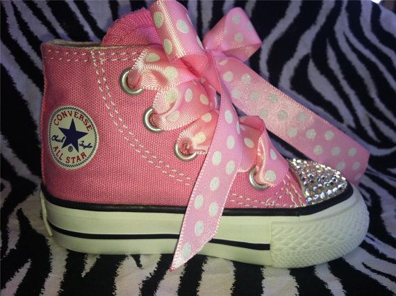 Pink Custom Converse Chuck Taylor All star by CoutureConverse