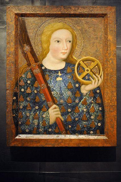 Master Theodoricus (Mistr Theodorik): St Catherine, Prague, 1360-1364