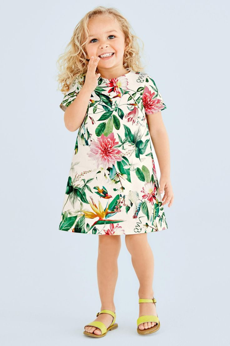Buy Tropical A-line Dress (3mths-6yrs) online today at Next: Belgium