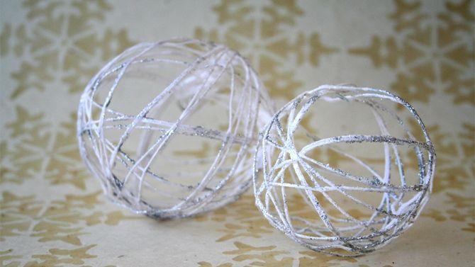boules de noël décoratives  bricolage de noël facile à faire