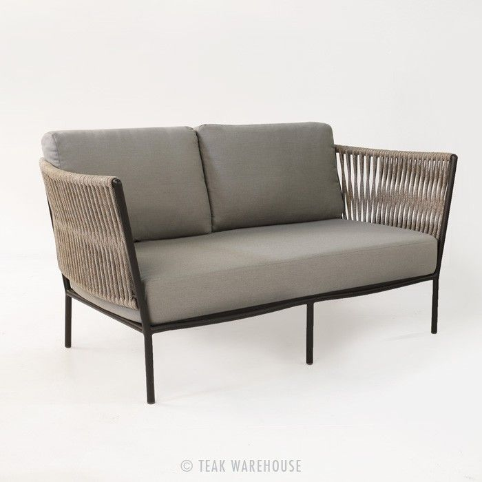 Rope Outdoor Loveseat | Teak Warehouse