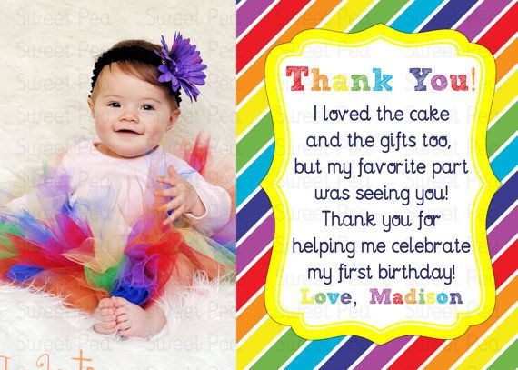 rainbow party thank you note