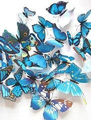 simulering butterfly stereoskopiske vegg klistremerker