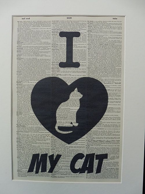 Cat Wall Art Print No.357 cat poster funny cat by DecorisDesigns