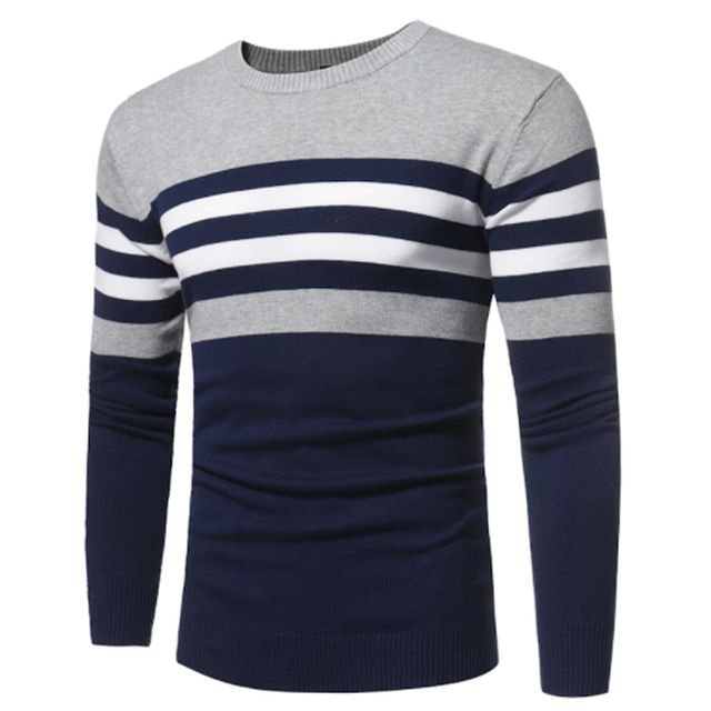 Deals For $12.78, Buy Sweater Men 2017 Brand Pullovers Casual Sweater Male O Collar Stripe Simple Slim Fit Knitting Mens Sweaters Man Pullover Men S
